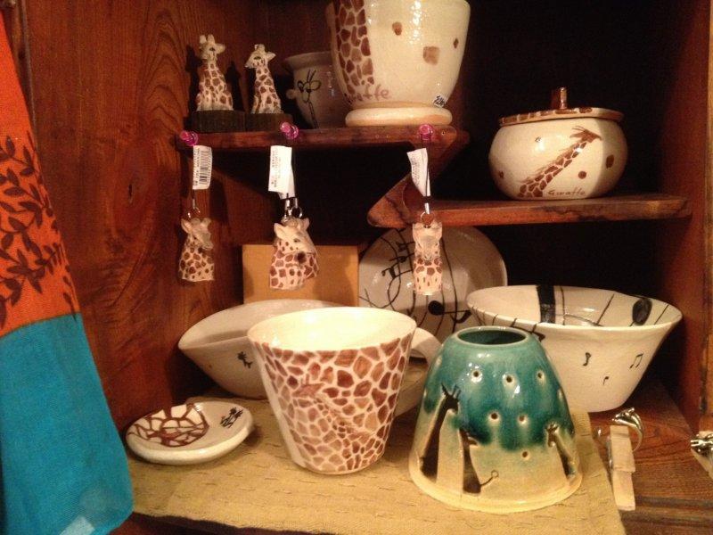 <p>Handmade giraffe cup</p>