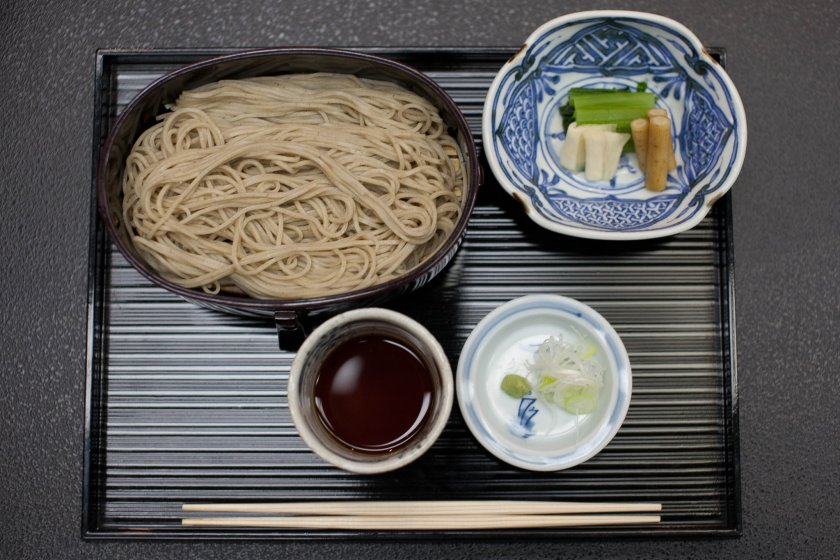 Soba noodles, which Nagano is famous for