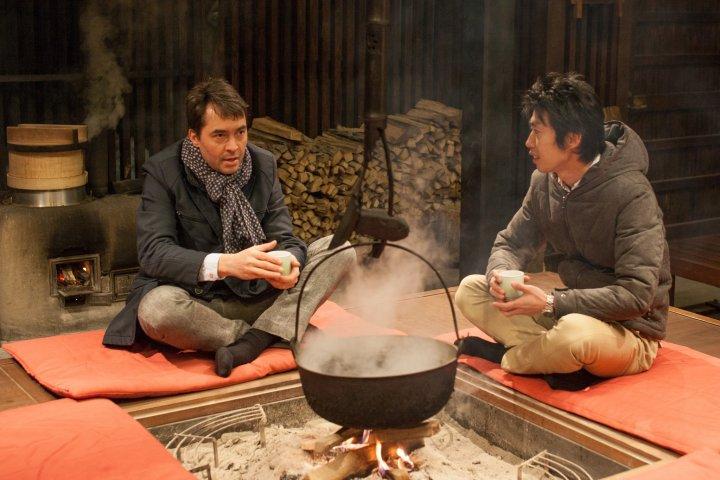 Outdoor Fireplace at KAI Alps