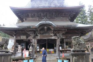 The monk at one of the Korori Kannon temples