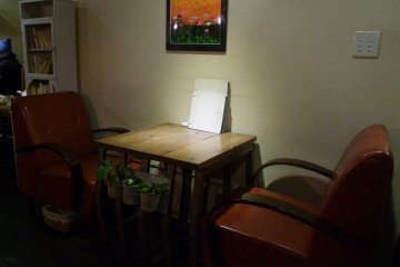 <p>Offbeat furniture adds to the atmosphere</p>