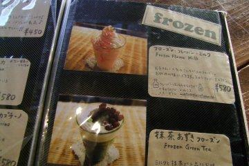 <p>Big, colorful menus make ordering easy</p>