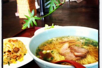 The ramen set at lunch.