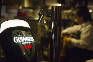 <p>Guinness and Heineken on tap</p>