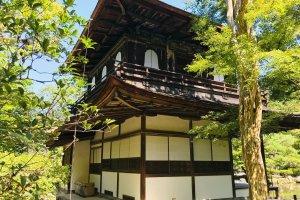 สระน้ำในวัดกินคะคุจิ[Ginkakuji Temple]