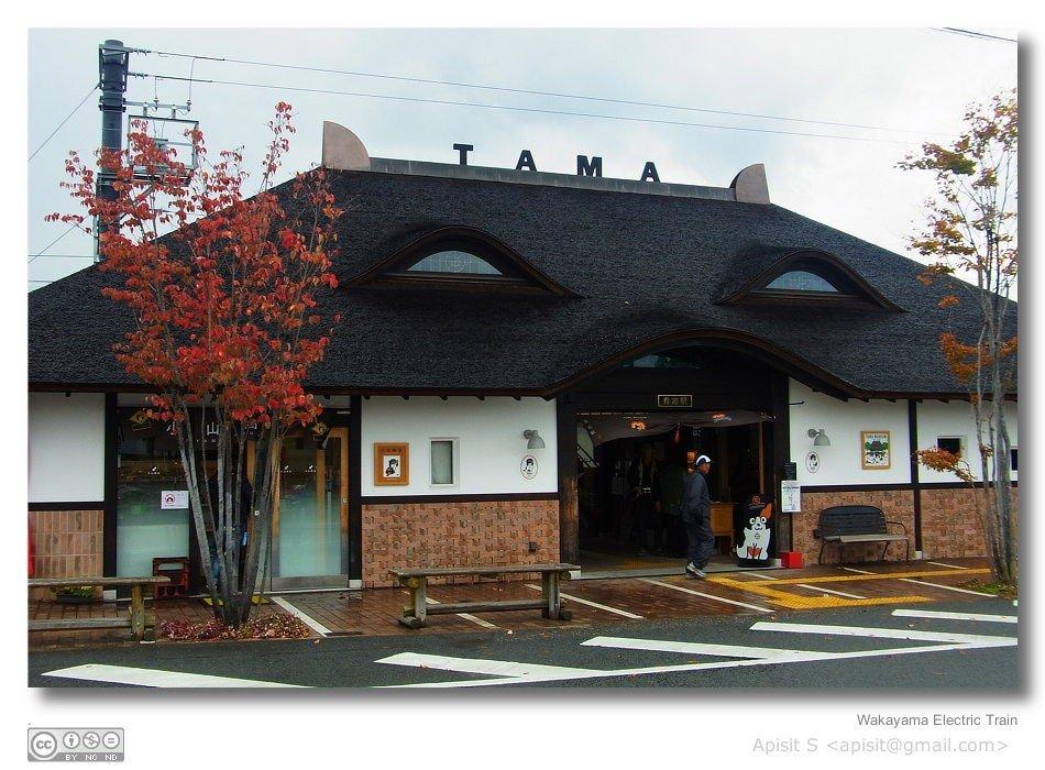 สถานีรถไฟคิชิถูกตกแต่งเป็นใบหน้าของแมว เป็นเอกลักษณ์เด่นของสถานี