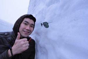 ถ่ายรูปกะมนุษย์หิมะในยูคิโนะ โอทานิ