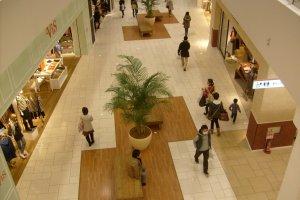 Happy shoppers: inside Terrace Mall.
