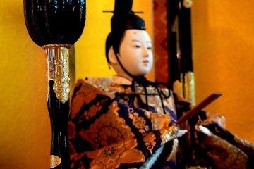 <p>One of the male Hinamatsuri dolls</p>