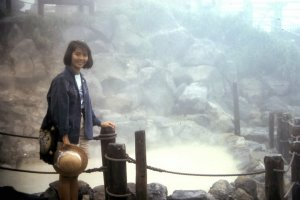 The Owaku-dani Valley with its boiling and popping sulfur hot springs