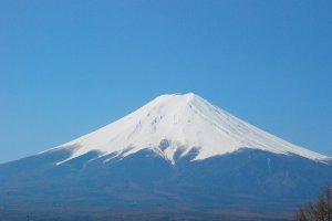 ภูเขาไฟฟูจิเป็นชัดๆ ใกล้ๆ