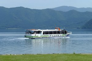A cruise boat on Lake Tazawa