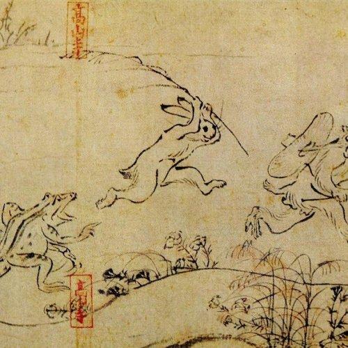 Painted Scrolls at Sekisui-in (Choju-Jinbutsu-giga)