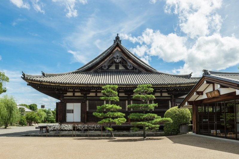 Main Hall of Sanjusangendo Buddhist Temple in Kyoto