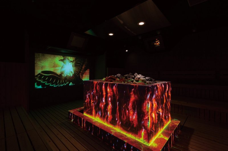 A Tokyo fi rst! Immersive projection mapping löyly (Finnish-style sauna)