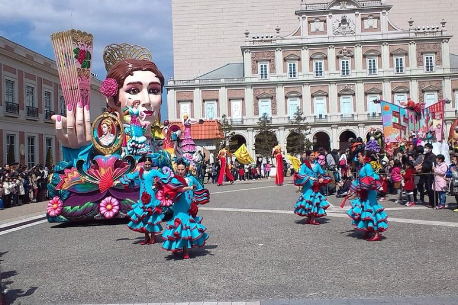 A colorful parade held daily.